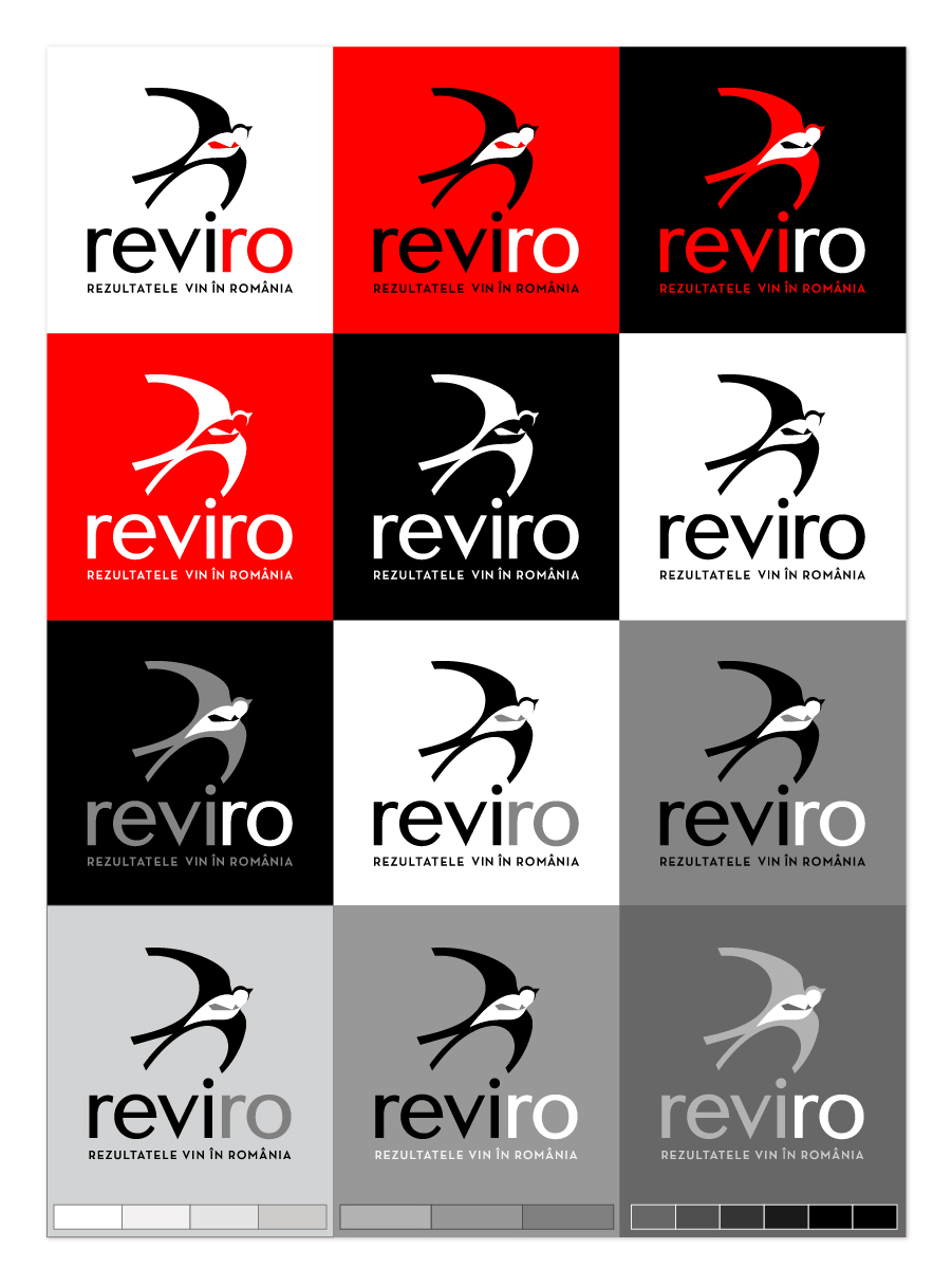 logo - color versions, monochrome versions, grayscale