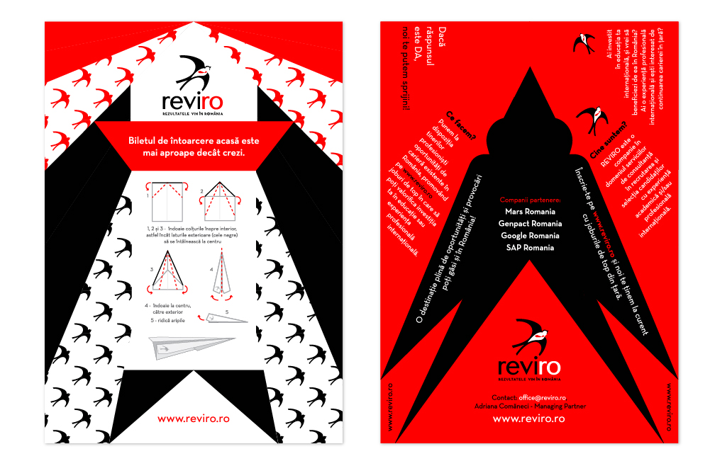front & back of flyer - unfolded