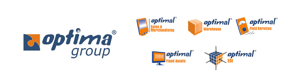 old logos for Optima Group and their software products