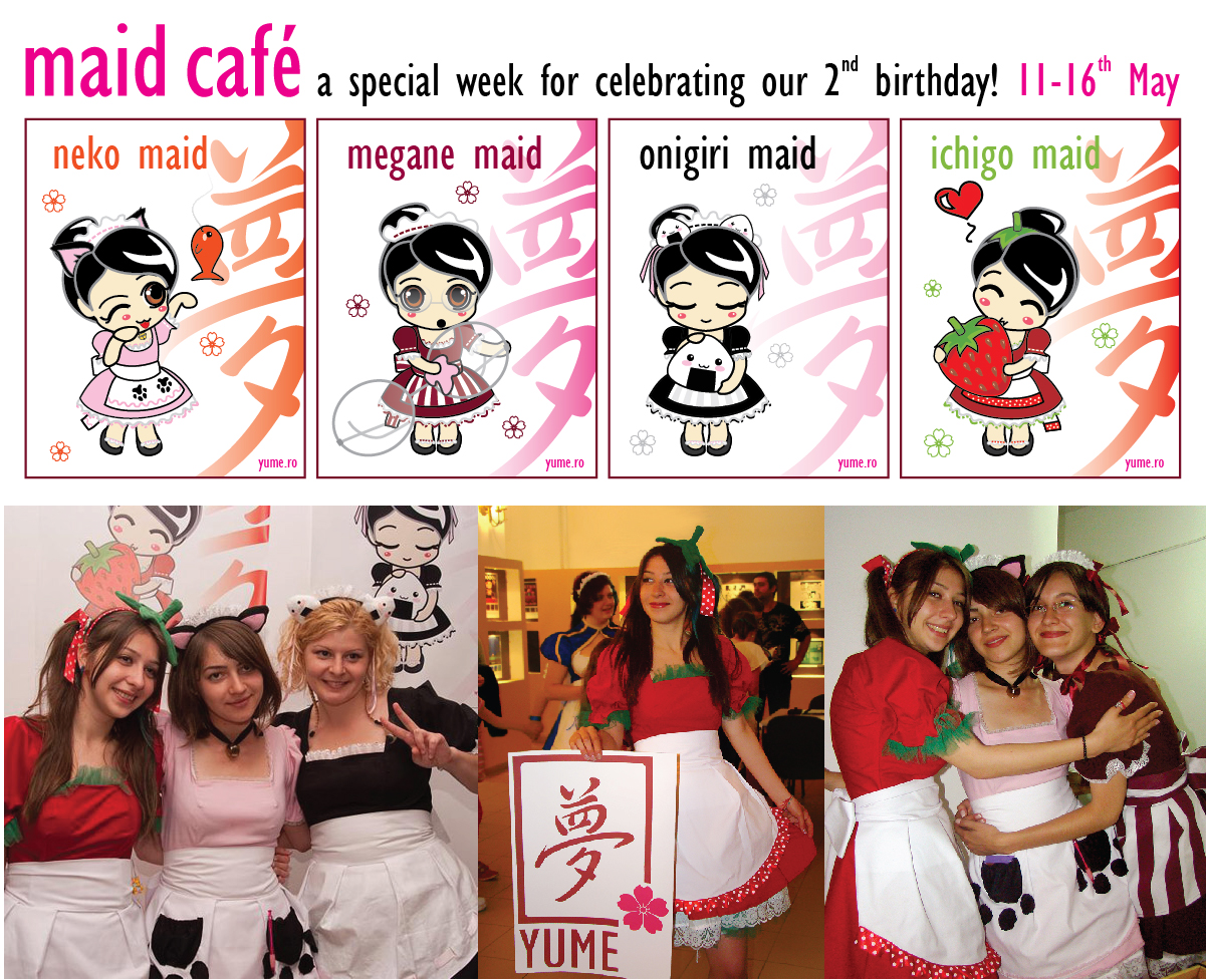 maid cafe. pics from Otaku Festival, Bucharest